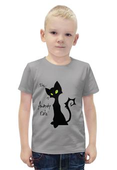 """Футболка с полной запечаткой для мальчиков """"Кот-анархист"""" - кот, юмор, рисунок, графика, анархист"""