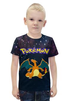 """Футболка с полной запечаткой для мальчиков """"Покемон Чаризард"""" - pokemon, покемон, charizard, чаризард"""
