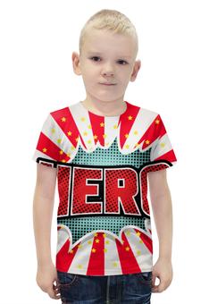 """Футболка с полной запечаткой для мальчиков """"HEROO"""" - арт, стиль, дизайн, графика, абстракция"""