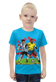 """Футболка с полной запечаткой для мальчиков """"Футболисты """" - футбол"""