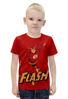 """Футболка с полной запечаткой для мальчиков """"Флэш """" - flash, комиксы, супергерои, флэш"""