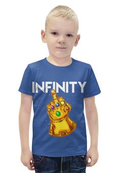 """Футболка с полной запечаткой для мальчиков """"Infinity"""" - рука, жест, кристалы"""
