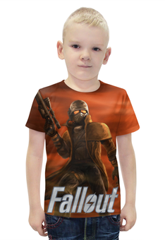 """Футболка с полной запечаткой для мальчиков """"Fallout """" - games, игра, game, fallout, фаллоут"""