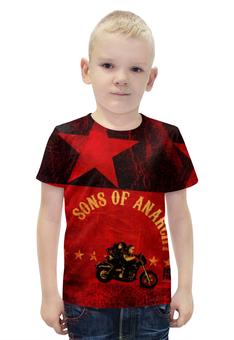 """Футболка с полной запечаткой для мальчиков """"Sons of Anarchy"""" - сериалы, sons of anarchy, сыны анархии"""