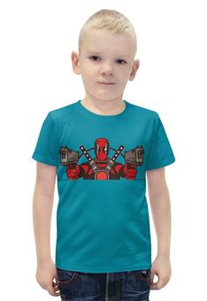 """Футболка с полной запечаткой для мальчиков """"Deadpool"""" - комиксы, супергерои, дедпул, пистолеты"""