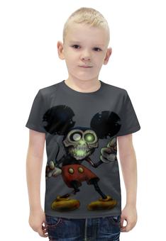 "Футболка с полной запечаткой для мальчиков ""Mickey Mouse Zombie"" - zombie, зомби, микки маус, mickey mouse, арт дизайн"