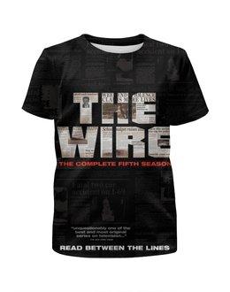 """Футболка с полной запечаткой для мальчиков """"Прослушка"""" - кино, сериал, wire, прослушка, the wire"""