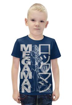 """Футболка с полной запечаткой для мальчиков """"Mega man (Rockman)"""" - арт, games, ретро, megaman, barreljumpers"""
