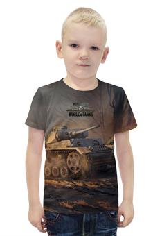 """Футболка с полной запечаткой для мальчиков """"World of Tanks"""" - игра, рисунок, онлайн, танки"""