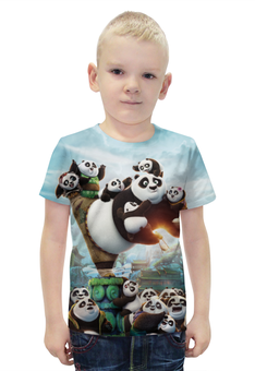 """Футболка с полной запечаткой для мальчиков """"Кунг-Фу Панда"""" - панда, panda"""
