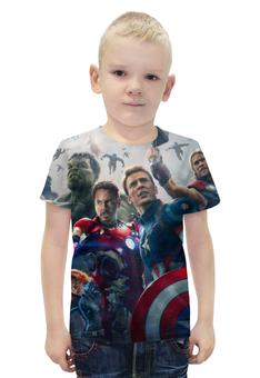 """Футболка с полной запечаткой для мальчиков """"Мстители"""" - комиксы, marvel, мстители, avengers"""