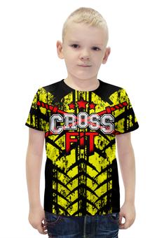 """Футболка с полной запечаткой для мальчиков """"CROSSFIT """" - gym, фитнесс, спортзал, crossfit, кроссфит"""