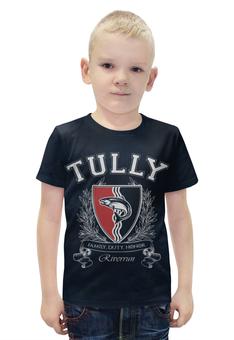 """Футболка с полной запечаткой для мальчиков """"Игра Престолов. Дом Талли"""" - игра престолов, game of thrones, дом талли, house tully, талли"""