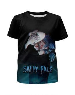 """Футболка с полной запечаткой для мальчиков """"Sally Face (Салли Фейс)"""" - игра, компьютерная игра, sally face, салли фейс, сали фейс"""