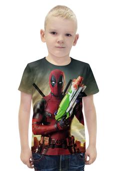 """Футболка с полной запечаткой для мальчиков """"Deadpool"""" - супергерой, marvel, марвел, убийца, дэдпул"""