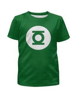 """Футболка с полной запечаткой для мальчиков """"Зеленый фонарь"""" - комиксы, зеленый фонарь"""