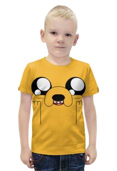 """Футболка с полной запечаткой для мальчиков """"Время приключений / Adventure Time"""" - мультфильм, рисунок, сериал, фин, джейк"""