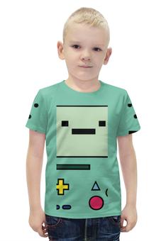 """Футболка с полной запечаткой для мальчиков """"Adventure Time BMO"""" - adventure time, время приключений, jake, bmo, бимо"""