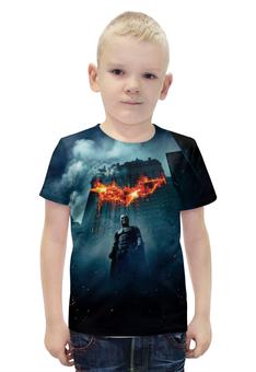 """Футболка с полной запечаткой для мальчиков """"Темный рыцарь"""" - batman, бэтмен, dark knight"""