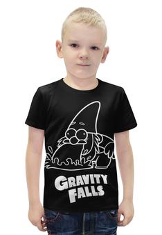 """Футболка с полной запечаткой для мальчиков """"Гном Стив"""" - gravity falls, гном, стив, гравити фолз"""