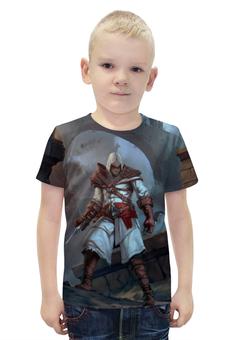 """Футболка с полной запечаткой для мальчиков """"Assassin's Creed """" - игра, рисунок, ассасин"""