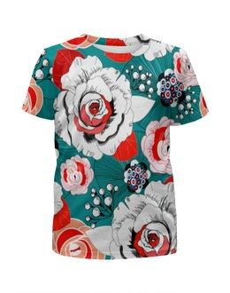 """Футболка с полной запечаткой для мальчиков """"Fashion Flower"""" - цветы, flower, природа, красные, розы"""