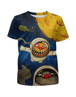 """Футболка с полной запечаткой для мальчиков """"Астрокоты"""" - космос, коты, космонавты, ложкин, космокоты"""