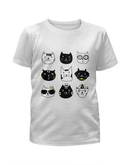 """Футболка с полной запечаткой для мальчиков """"Милые котики"""" - кот, животные, cat, котики, прикольные коты"""
