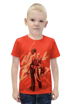 """Футболка с полной запечаткой для мальчиков """"Хеллбой / Hellboy"""" - комикс, рисунок, кино, хеллбой"""