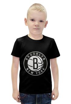 """Футболка с полной запечаткой для мальчиков """"Бруклин Нетс (Brooklyn Nets)"""" - nba, нба, бруклин нетс, brooklyn nets"""