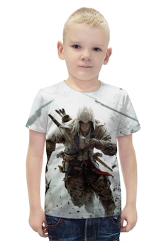 """Футболка с полной запечаткой для мальчиков """"Assassin's Creed"""" - игры, assassins creed, assassin, ассасин, геймерские"""