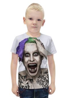 """Футболка с полной запечаткой для мальчиков """"Джокер"""" - joker, джаред лето, злодей, отряд самоубийц, suicide squad"""