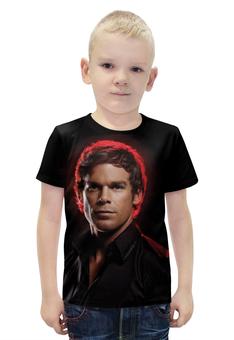 """Футболка с полной запечаткой для мальчиков """"Dexter"""" - dexter, декстер, кровь, сериал, убийца"""