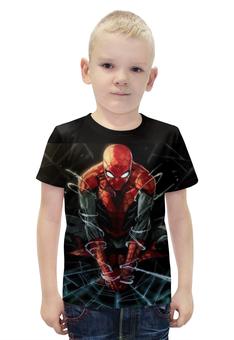 """Футболка с полной запечаткой для мальчиков """"spider man"""" - комиксы, marvel, spider man, человек-паук"""