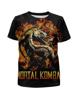 """Футболка с полной запечаткой для мальчиков """"Mortal Kombat"""" - игры, фантастика, mortal kombat, mk, мортал комбат"""