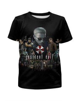 """Футболка с полной запечаткой для мальчиков """"Resident Evil"""" - игра, обитель зла, resident evil, umbrella, re"""