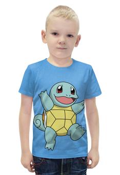 """Футболка с полной запечаткой для мальчиков """"Сквиртл"""" - нинтендо, nintendo, squirtle, pokemon go, покемон го"""