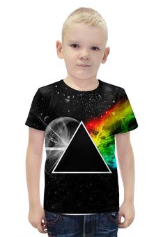 """Футболка с полной запечаткой для мальчиков """"Pink Floyd"""" - музыка, рок, космос, пинк флойд, pink floyd"""