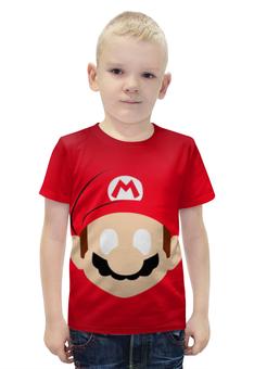 """Футболка с полной запечаткой для мальчиков """"Супер Марио"""" - игры, фанарт, супер марио"""