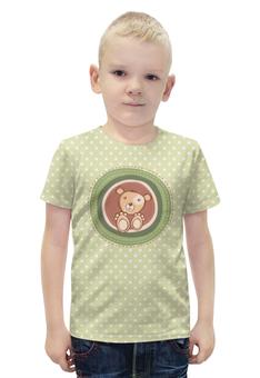 """Футболка с полной запечаткой для мальчиков """"Медвежонок"""" - животные, стиль, мультфильм, медвежонок, детский рисунок"""