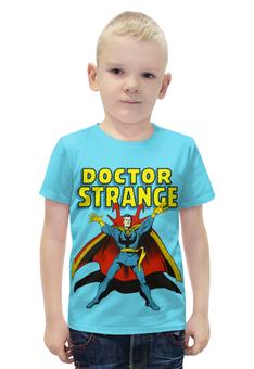 """Футболка с полной запечаткой для мальчиков """"Доктор Стрэндж """" - комиксы, супегерои, доктор стрэндж, doctor strange"""