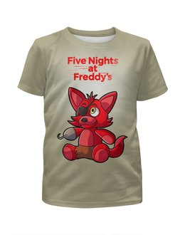 """Футболка с полной запечаткой для мальчиков """"Five Nights at Freddy's    """" - мультик, ужастик, пять ночей у фредди, компютерная игра"""