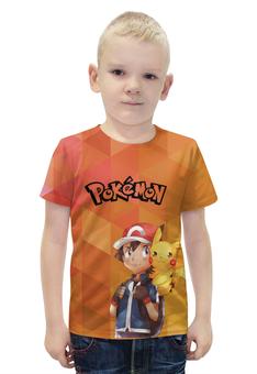 """Футболка с полной запечаткой для мальчиков """"Pokemon go"""" - pokemon, покемон, пикачу, pokemon go"""