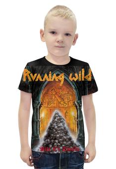 """Футболка с полной запечаткой для мальчиков """"Running Wild Band"""" - heavy metal, хеви метал, running wild, power metal, павер метал"""