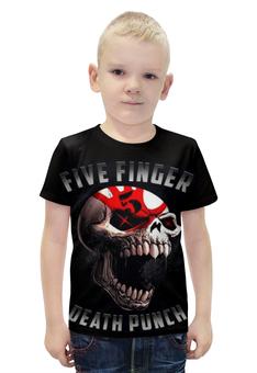 """Футболка с полной запечаткой для мальчиков """"five finger death punch"""" - рок и метал"""