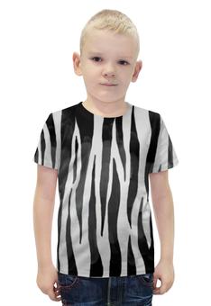 """Футболка с полной запечаткой для мальчиков """"Раскрас зебры"""" - арт, животные, зебра, раскрас"""