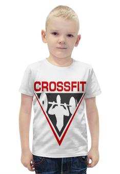 """Футболка с полной запечаткой для мальчиков """"CrossFit"""" - спорт"""