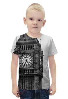 """Футболка с полной запечаткой для мальчиков """"Туманный альбион"""" - лондон, англия, часы, бигбэн, альбион"""