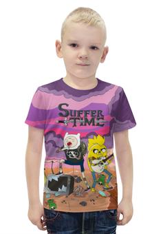 """Футболка с полной запечаткой для мальчиков """"Время Приключений (Adventure Time)"""" - adventure time, время приключений, finn and jake, финн и джейк, suffer"""