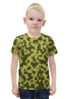 """Футболка с полной запечаткой для мальчиков """"Зелёный Камуфляж"""" - армия, камуфляж, camouflage, военный, зелёный камуфляж"""